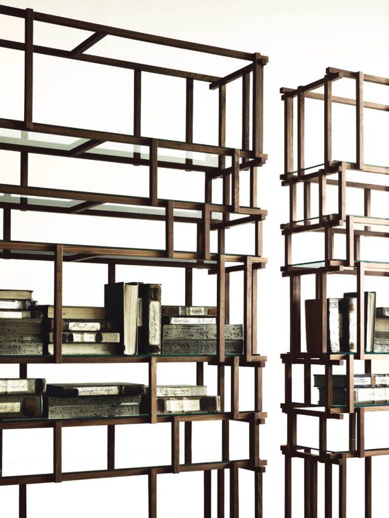 Off Cut nowoczesny regał Living Divani Design Nathan Yong kari mobili